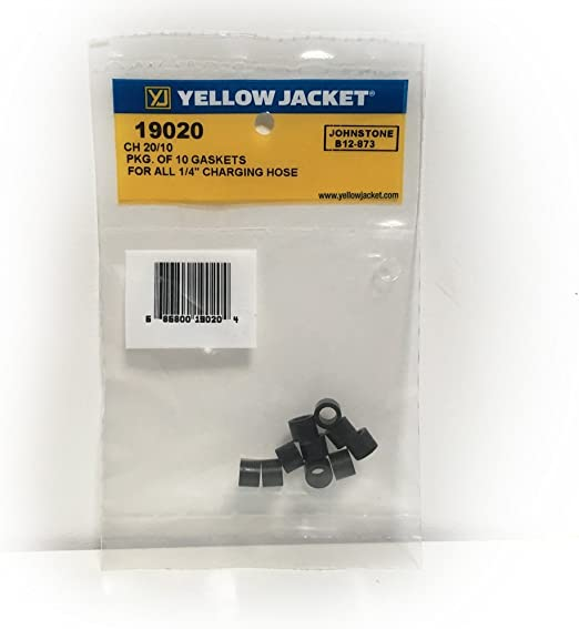 YELLOW JACKET 19020 Hose Gasket,1//4 In,PK10