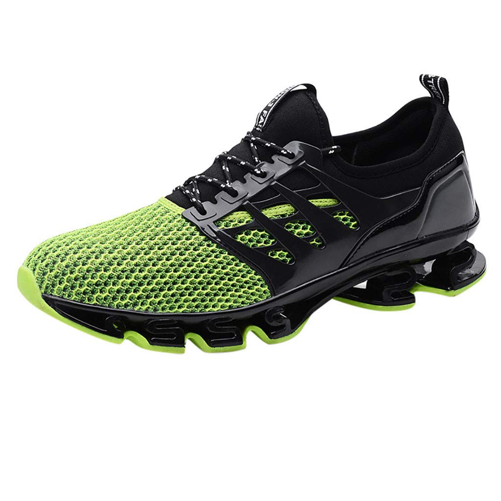 Fashion Casual Outdoor Sneakers Running Shoes,Couple Mesh Breathable Wear Running Shoes Outdoor Wild Sneakers Shoes Green