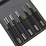 CSLU 10Pcs Manganese Steel Chisel Set Stone Carving Knife Artist Woodworkers Tools with Portable Bag