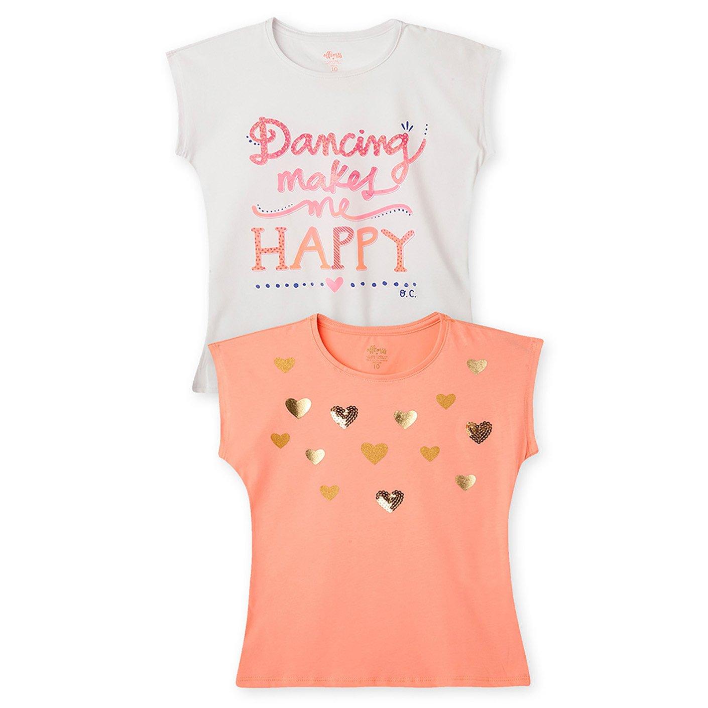 OFFCORSS Trendy Colored Girls T Shirts Blouses Camiseta Franela de Ni/ñas