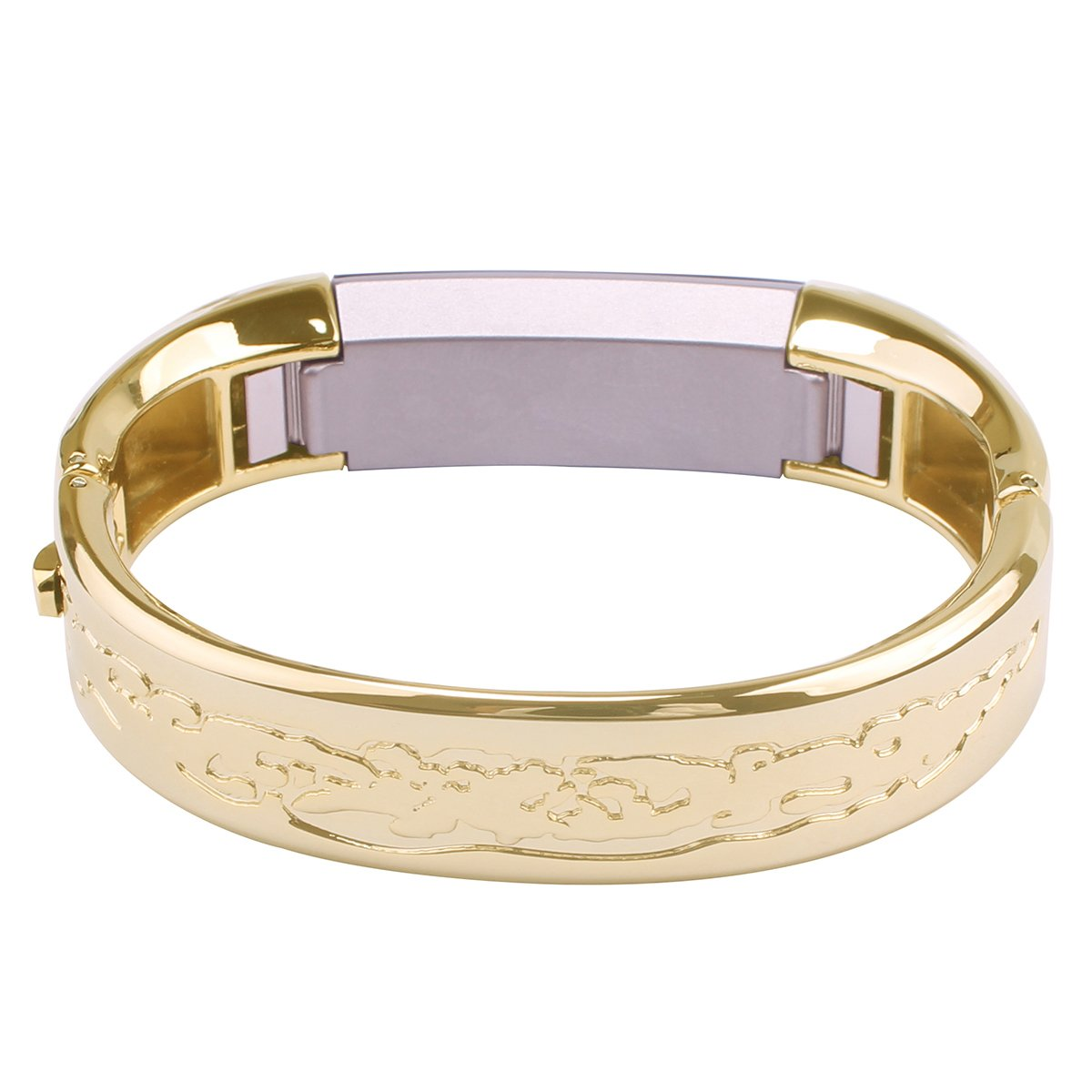 Stainless Steel Watch Band for Fitbit Alta HR Band Solid Bracelet Replacement Wristband Strap Gold