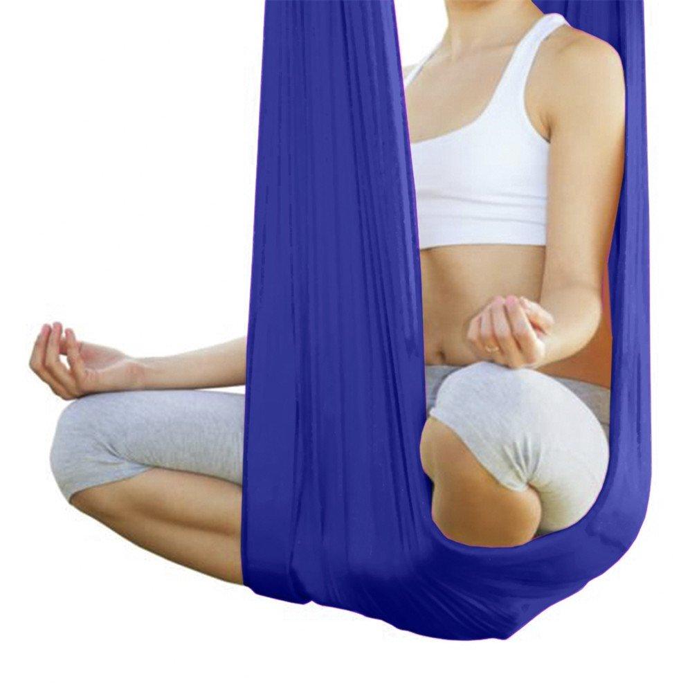 Amazon.com: Ousamd Elastic 5 Meter Yoga Hammock Anti-Gravity ...