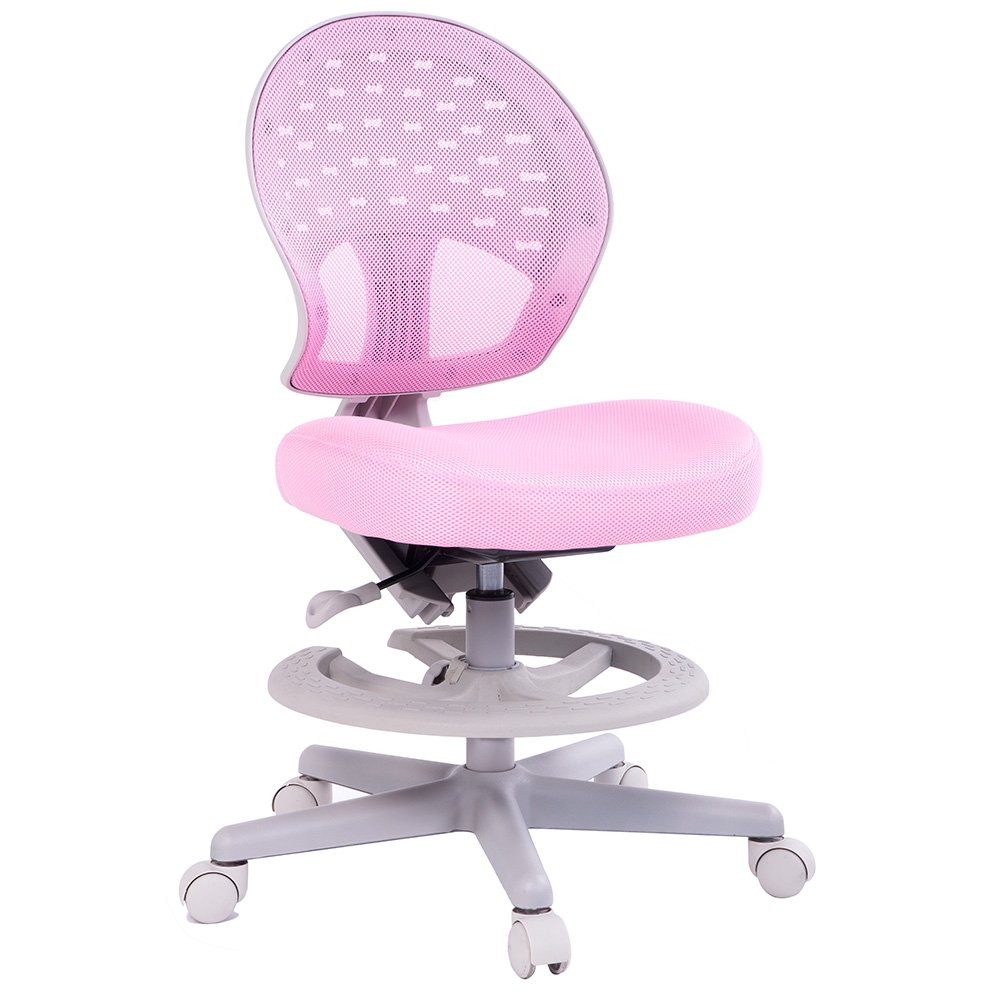 Ordinaire Amazon.com: Merax Childrenu0027s Desk Chair With Foot Rest 360 Degree Swivel  (pink): Home U0026 Kitchen