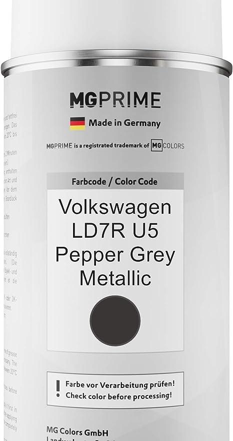 Mg Prime Autolack Sprühdosen Set Für Volkswagen Vw Ld7r U5 Pepper Grey Metallic Basislack Klarlack Spraydose 400ml Auto