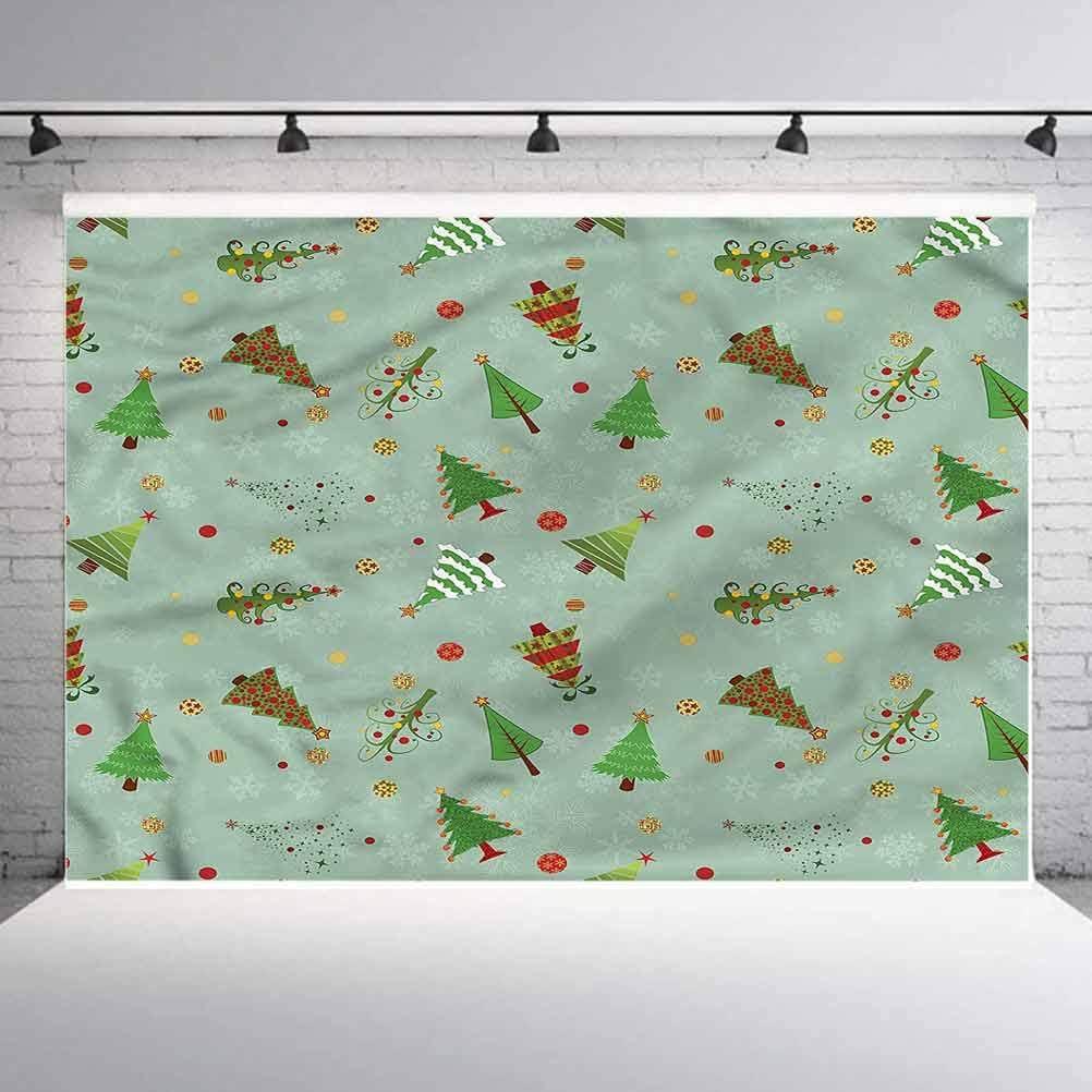5x5FT Vinyl Wall Photography Backdrop,Christmas,Holiday Tree Pattern Photo Backdrop Baby Newborn Photo Studio Props