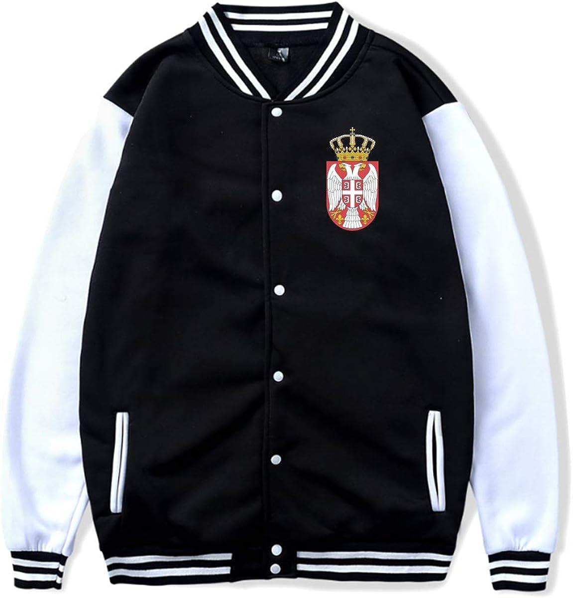 ZGYPBA2BA Herb Serbii Baseball Uniform Jacket Sport Coat