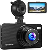 """APEMAN Dash Cam 1080P FHD 3.0"""" Screen DVR Car Dashboard Camera Recorder with Night Vision, G-sensor, WDR, Loop Recording, Motion Detection, and Parking Monitor"""
