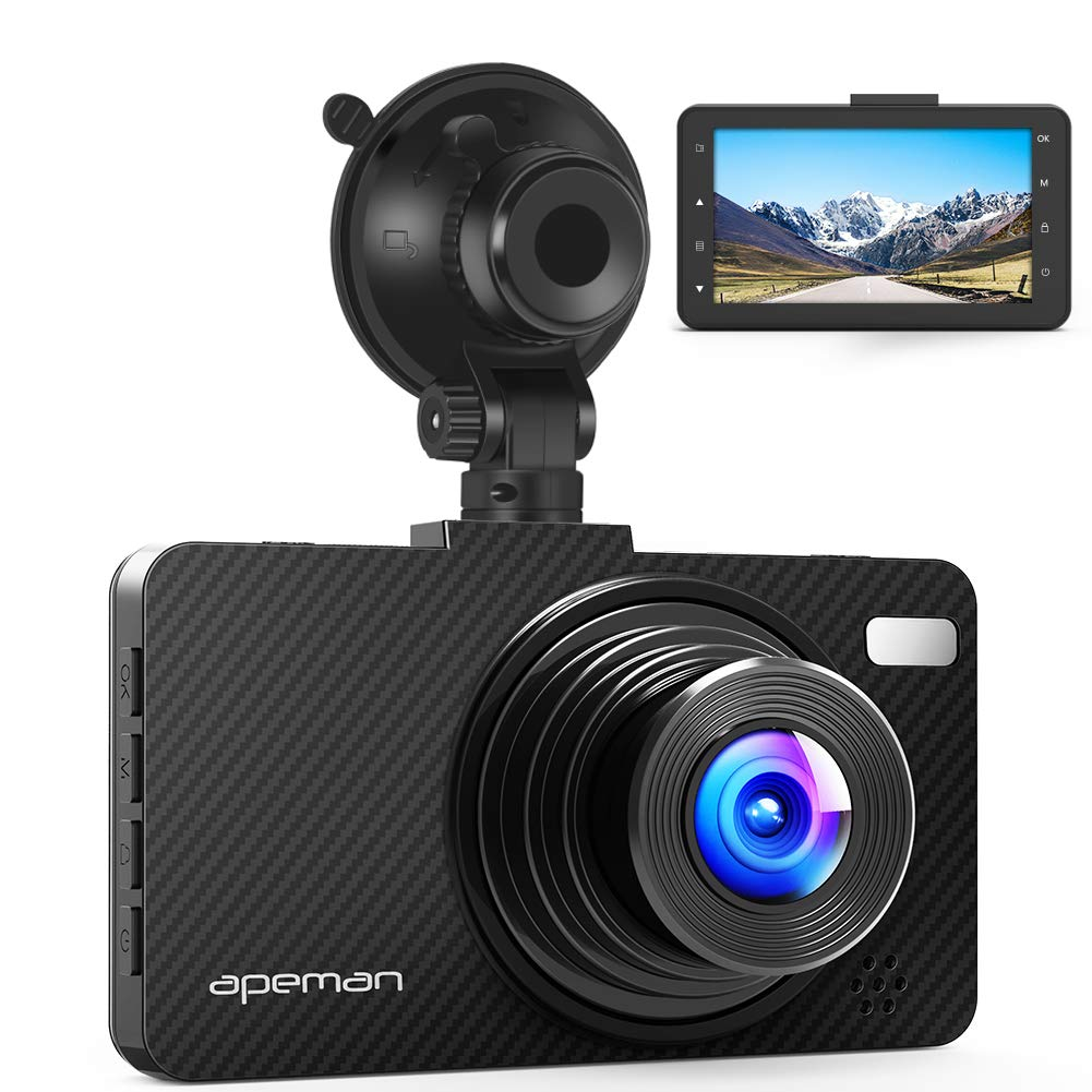 APEMAN Dual In Car Dash Cam Camera WQHD 2K 1440P Front View & 1080P Rear View 2.7 Inch with IR Sensor Super Night Vision, 6G Lens, WDR, Loop Recording, G-sensor, Parking Monitoring, Motion Detection C860