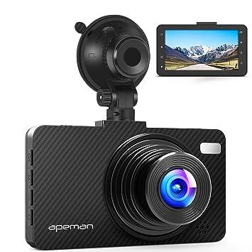 APEMAN Cámara de Coche DashCam 3.0 1080P, Full HD 170°Ángulo Cámara