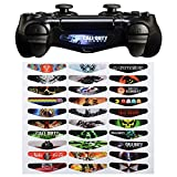 eXtremeRate® Light Bar Decal Stickers Set of 30 Different Pcs for PS4 Playstation 4 Controller - Color Prints Game Theme Mix Stickers from eXtremeRate