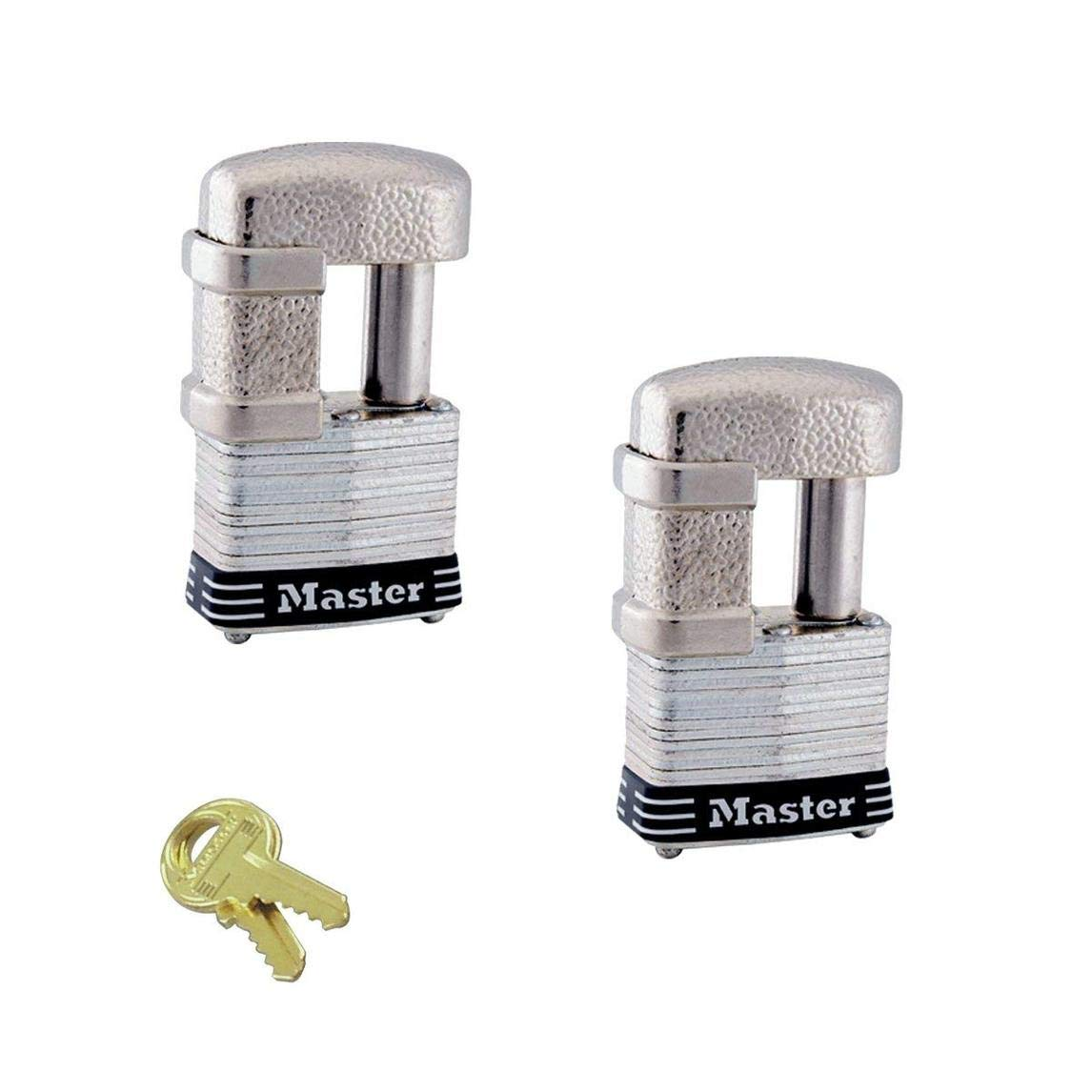 Master Lock - (2) Keyed Alike Multi Purpose Padlocks 37NKA-2 w/BumpStop Technology