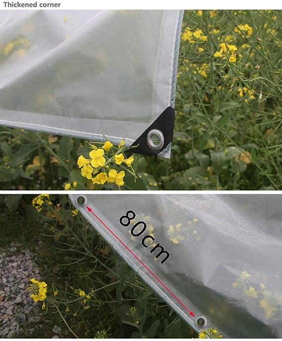 Lona Translúcida De Doble Capa De PVC 0,42 G / ㎡, Planta De Cobertizo De Lona, Cortina Transparente para Sala De Lavado De Autos De Tela De Tienda, ...