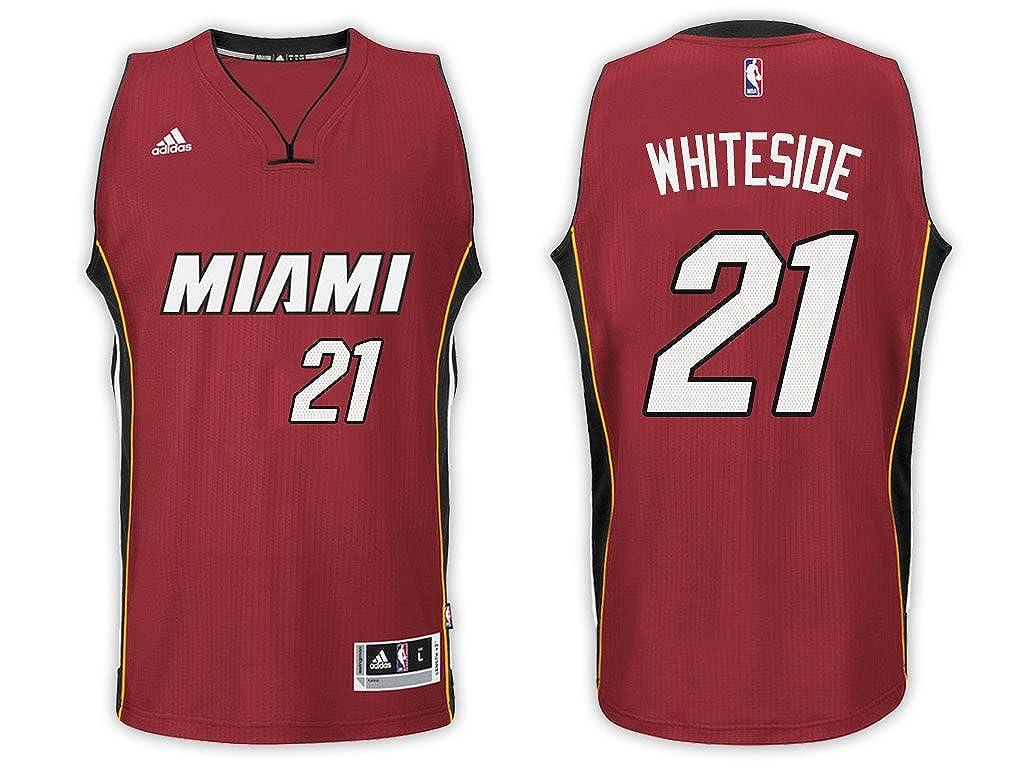 Amazon.com  Hassan Whiteside Miami Heat Red Adidas Alternate Swingman Jersey  (Medium 10 12)  Clothing f9f39f558