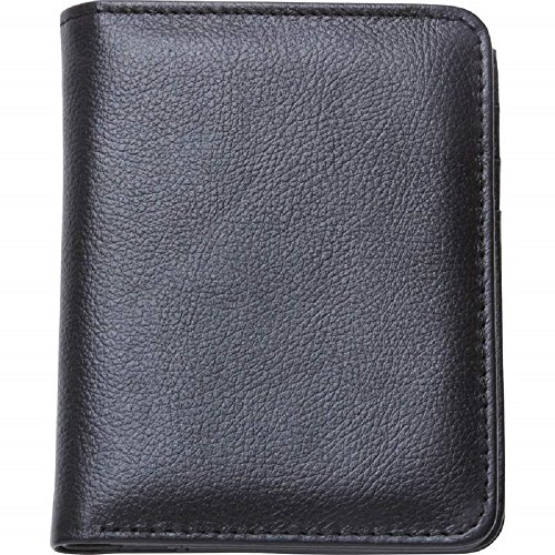 Embassy™ Men's Solid Genuine Buffalo Leather Slim Bi-Fold (Embassy Solid Leather Purse)