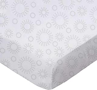 product image for SheetWorld Fitted 100% Cotton Percale Cradle Sheet 18 x 36, Grey Dot Circles, Made in USA