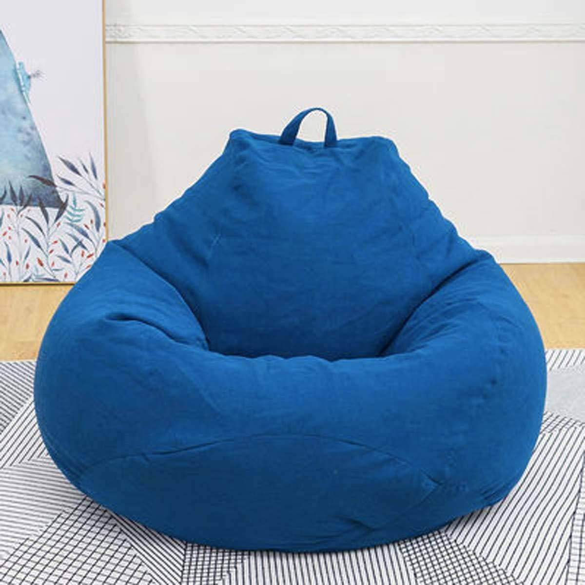 Astounding Amazon Com 120Cm Super Large Bean Bag Sofa Chair Cover Inzonedesignstudio Interior Chair Design Inzonedesignstudiocom