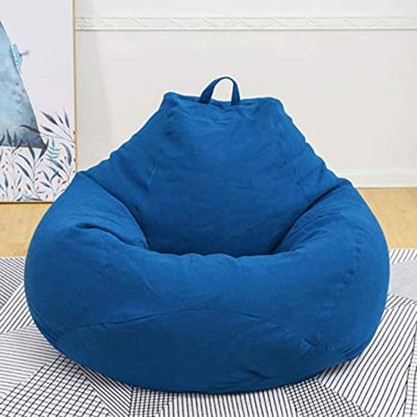 Amazon.com: 120cm Super Large Bean Bag Sofa Chair Cover ...
