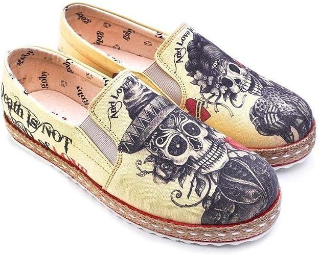 Shoes 'Beige Sugar Skull Slip-On