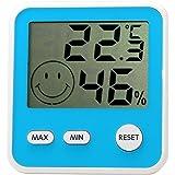 エンペックス気象計 温度湿度計 デジタルmidi 置き掛け兼用 アクアブルー TD-8316