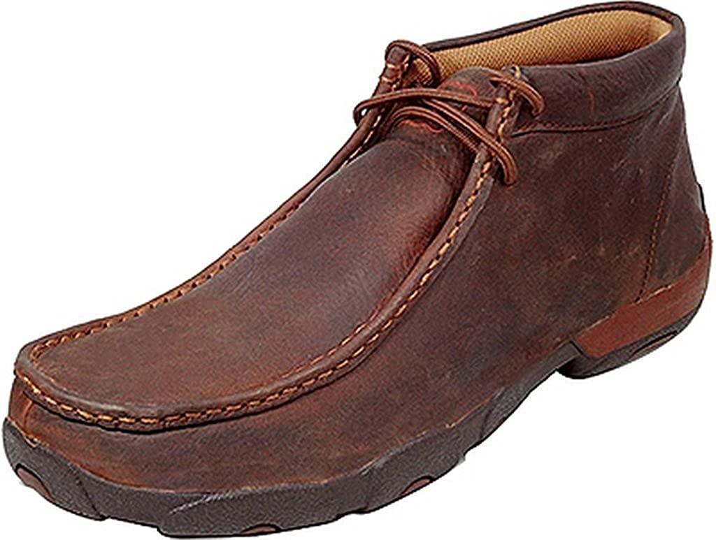 Twisted X Men's Driving Lace-Up Moccasin Shoes Moc Toe - Mdm0014