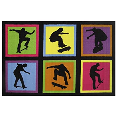 Fun Rugs Fun Time Skateboarding Fun Novelty Rug, 39 x 58, Multicolor: Kitchen & Dining