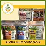 Shastha Millet Combo Pack of A (Little, Kodo, Barnyard,Sorghum & Brown Top Millets) Each item 500 Gms