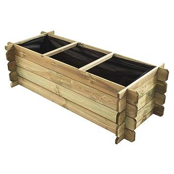 naturholz-shop - Compostador de Madera con Ranuras (140 x 60 ...