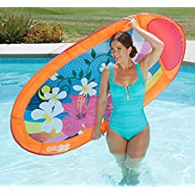 SwimWays Spring Float Graphic Print, Inflatable Pool Lounger, Luxury Lilo - Colour May Vary by Swim Ways