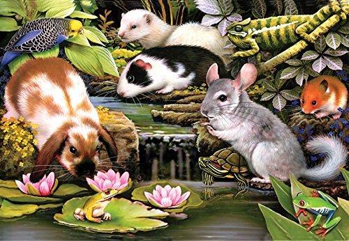 SunsOut Poolside Pets 100 pc Jigsaw Puzzle