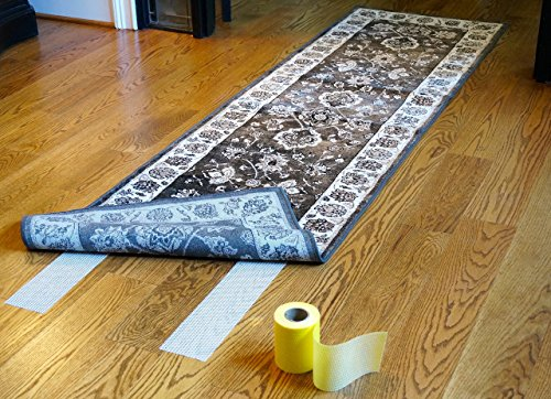 Optimum Technologies Lok Lift Rug Gripper for Runners, 4 Inch by 25 Feet. The original slip resistant rug solution by Optimum Technologies