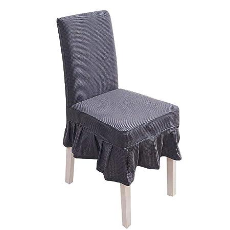 xiliary Steadyuf Fundas para sillas Impermeable Elástico Liso con ...