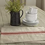 Piper Classics Farmhouse Red Grain Sack Stripe Placemats, Set of 4, 12'' x 18'', Country Farmhouse Kitchen and Dining Room Table Linens