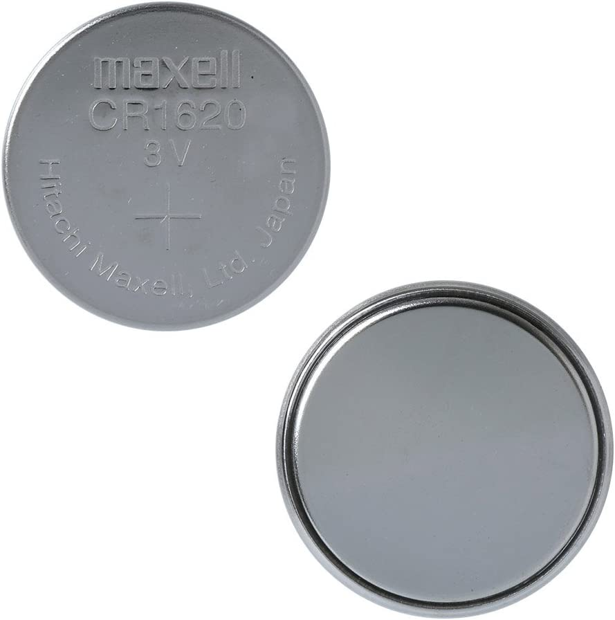 5 Maxell CR1620 3V Lithium Coin Cell Watch Batteries