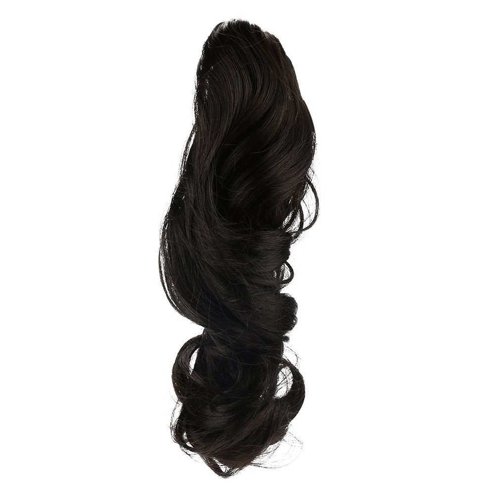 Wigs For Black Women, Womens Claw Thick Wavy Curly Short Ponytail Horsetail Clip Hair Extensions,Shower Caps