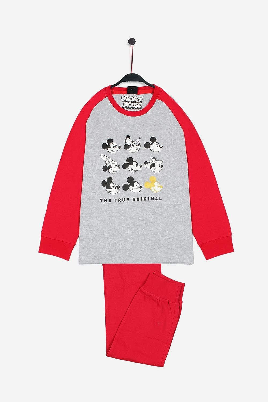 Disney Pijama Manga Larga Mickey Caritas para Niño: Amazon ...