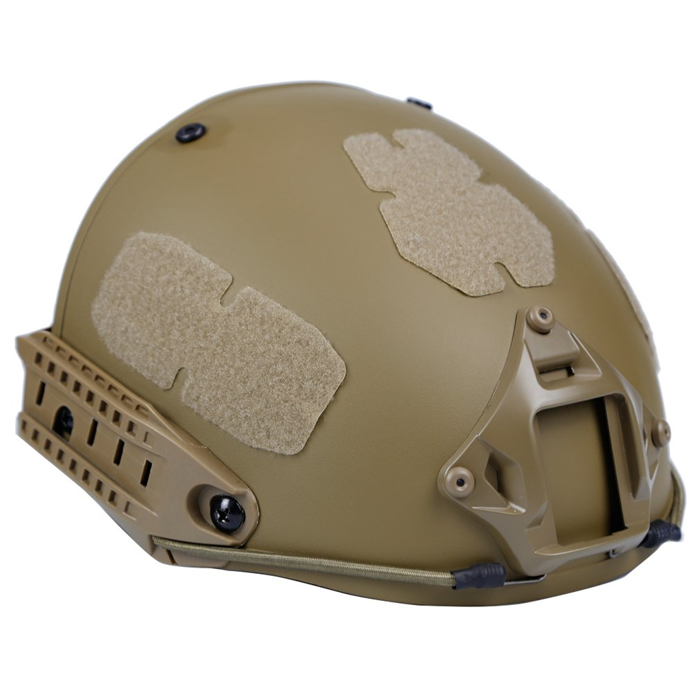 H World EU Airsoft Tactical Paintball casco protector con cojín Tan