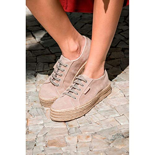 a41bd2d4cd TENIS SUPERGA JUTA SOLA ALTA BEGE - 35  Amazon.com.br  Amazon Moda