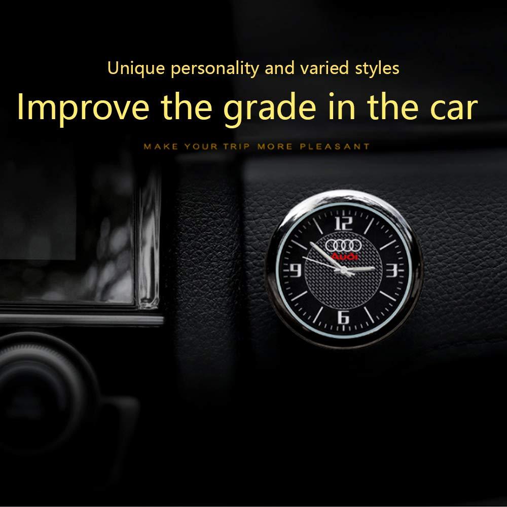 KINBEAR Auto Armaturenbrett Trim Clock Interior Zubeh/ör Hohe Genauigkeit Quartz Luminous Dial mit Vent Clip f/ür Mercedes Benz