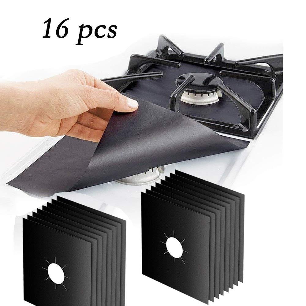 Cubiertas para quemadores de estufa: protectores de rango de gas reutilizables, estufa antiadherente para quemador Tapa del forro: 10.6