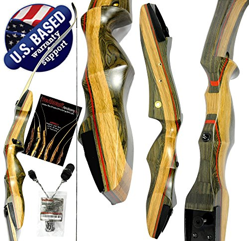 Spyder Takedown Recurve Bow and Arrow Set Compact Fast Accurate 62 Hunting Target Bow Right Left Hand Draw Weights in 20-60 lbs Beginner to Intermediate – USA Company Certified Refurbished