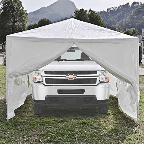 Portable Garage Canopy : Aleko portable garage carport car shelter canopy