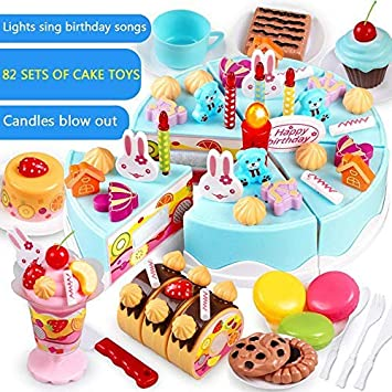 Stupendous Pretend Birthday Cake For Kids Vuffuw Cake Toy With Removable Funny Birthday Cards Online Elaedamsfinfo