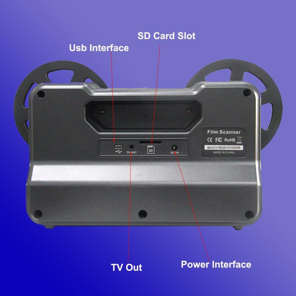 Convertidor de película digital Winait, escáner de película en rollo ...