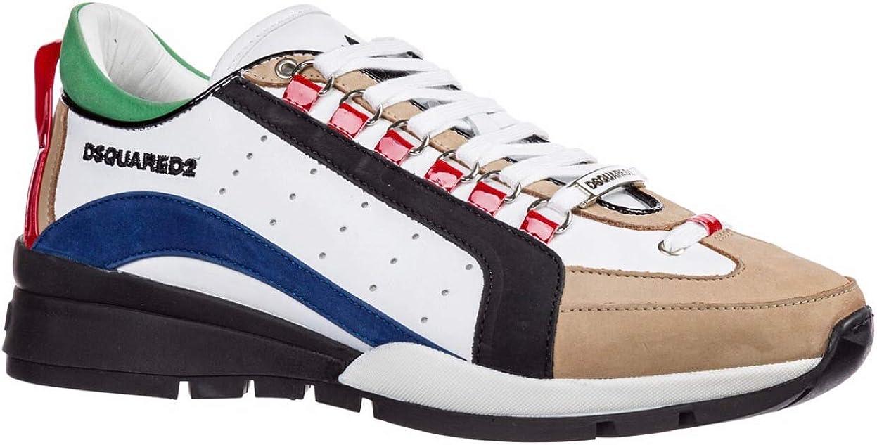 Dsquared2 Sneakers 551 Hombre Blanco + Azul + Negro Blanco Size: 39 EU: Amazon.es: Zapatos y complementos