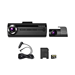 THINKWARE FA200 Dash Cam Bundle with Front & Rear Cam, Cigarette Power Cable, 16GB MicroSD Card Included, Built-in WiFi