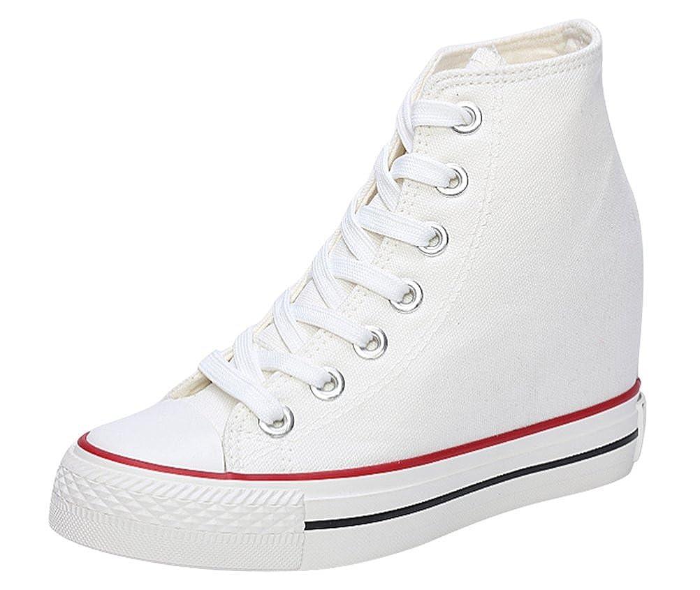 1ecefb2a6a15 ACE SHOCK Canvas Shoes Women with Hidden Heels