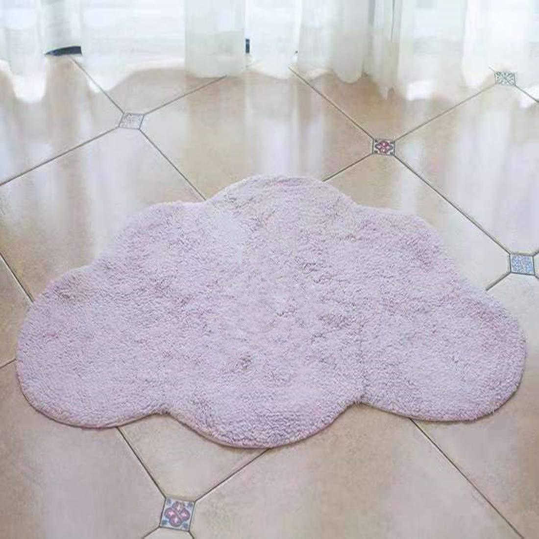 Stangent Wolke Baumwollmatte Kinderteppich Spielteppich Krabbelmatten Homeware Türmatten Kinderzimmer Deko (100 cm 65 cm) weiß B07K28759S Teppiche & Lufer