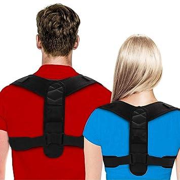 DEM - Posture Corrector for Men & Women-Upper Back Brace Provides Clavicle  & Firm Support -