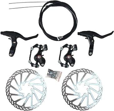 LIOOBO Kit de Freno de Disco de Bicicleta Aluminio Delantero ...