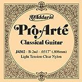 D\'Addario J4302 Pro-Arte Nylon Classical Guitar Single String, Light Tension, Second String